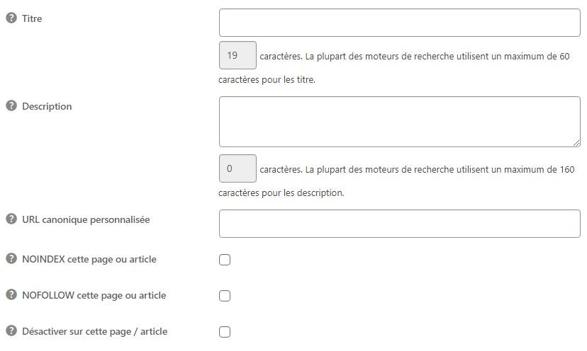 Personnaliser les balises meta de wordpress pour chaque page